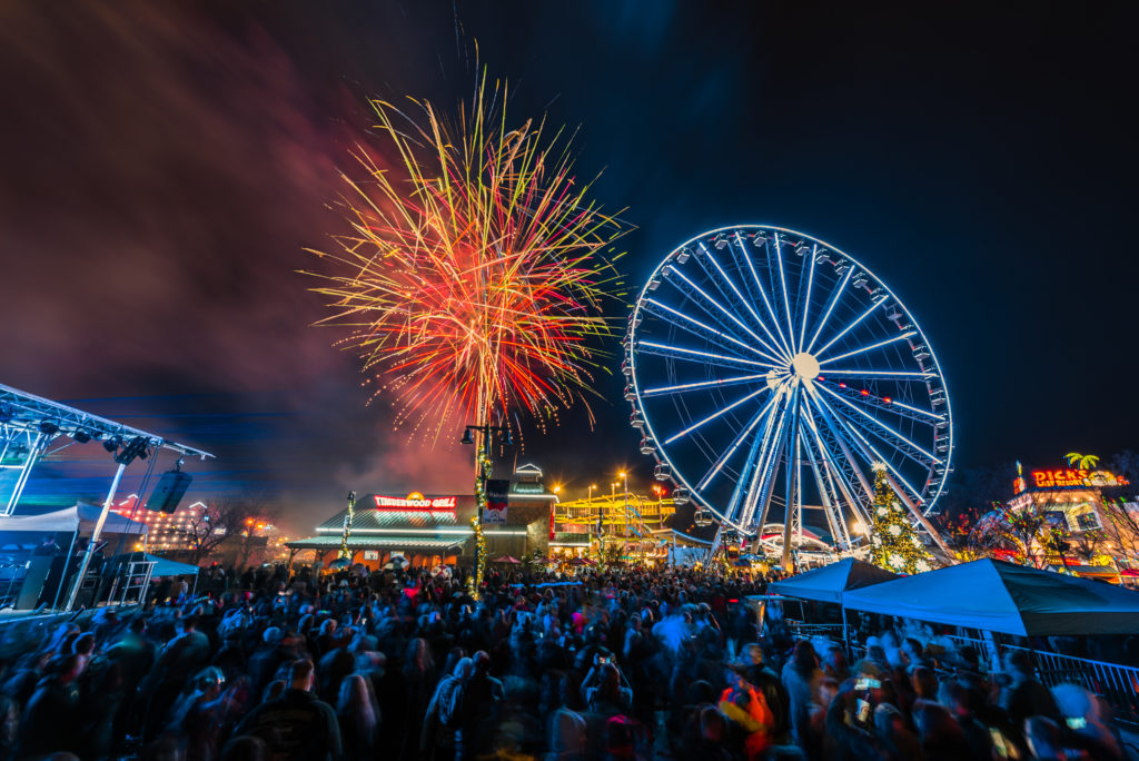 The Island in Pigeon Forge is the perfect place to celebrate New Year's Eve in the Smokies