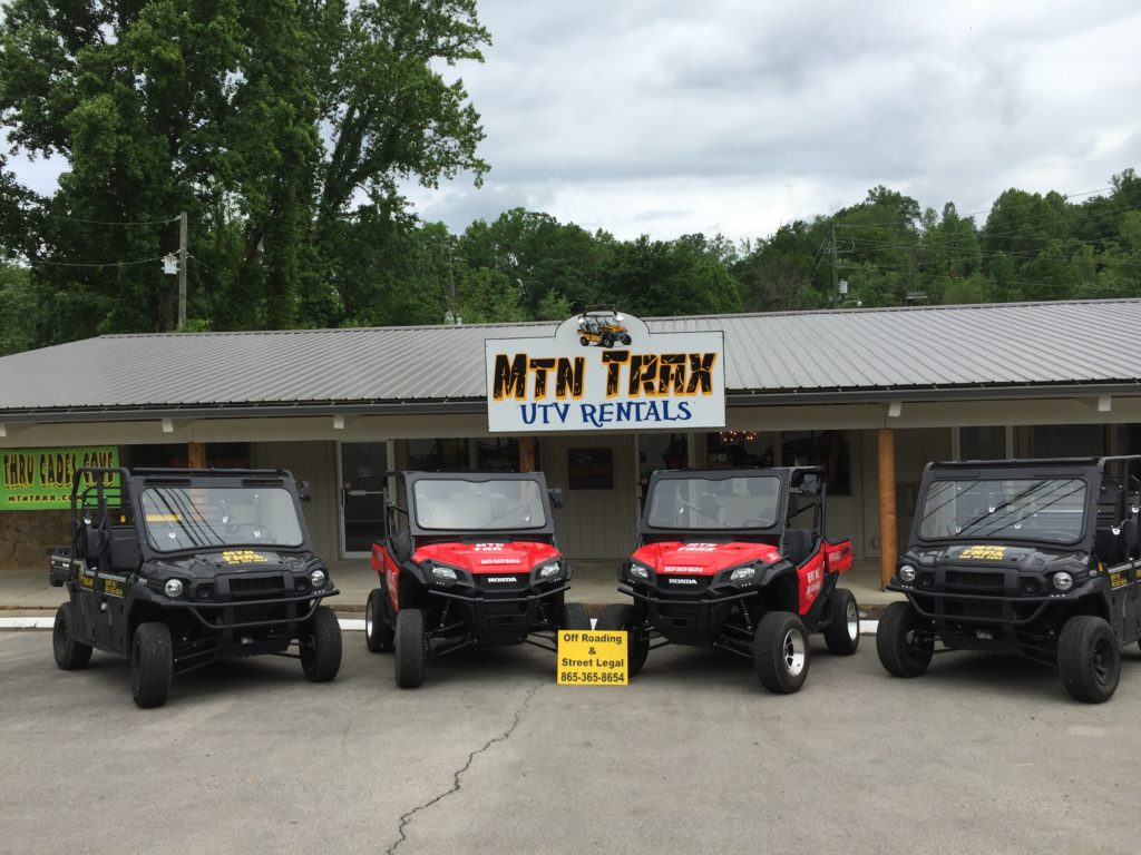 You can rent street-legal UTVs from Mtn Trax in Townsend for a great day trip
