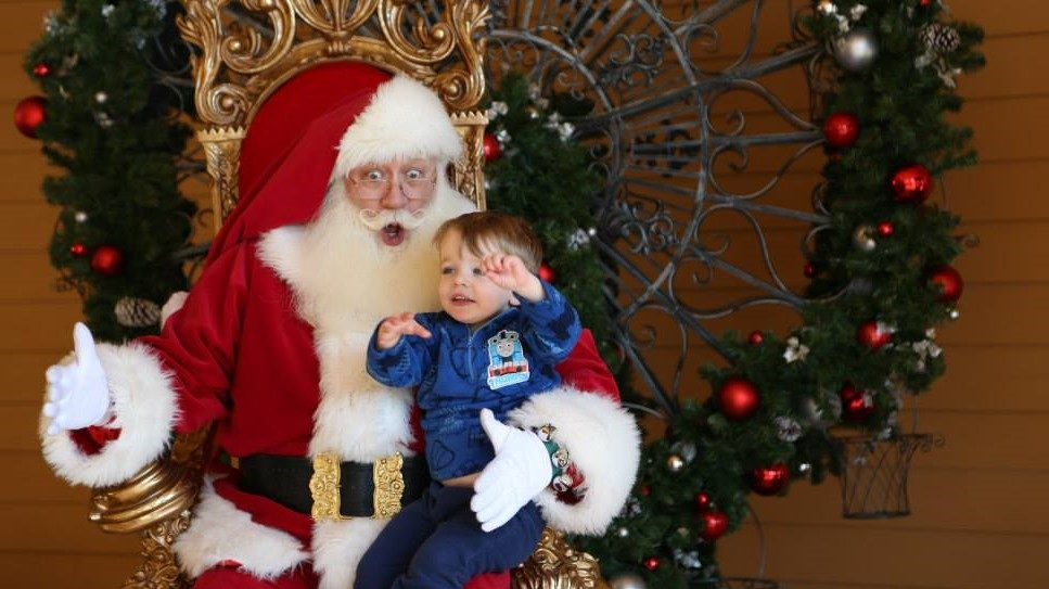 Meet Santa in the Smoky Mountains at the Island in Pigeon Forge